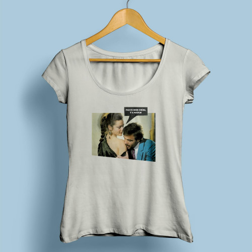 T-shirt femme Pas ce soir Chéri y a match