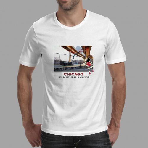 T-shirt homme Chicago / Margaret Hie Ding Lin Park
