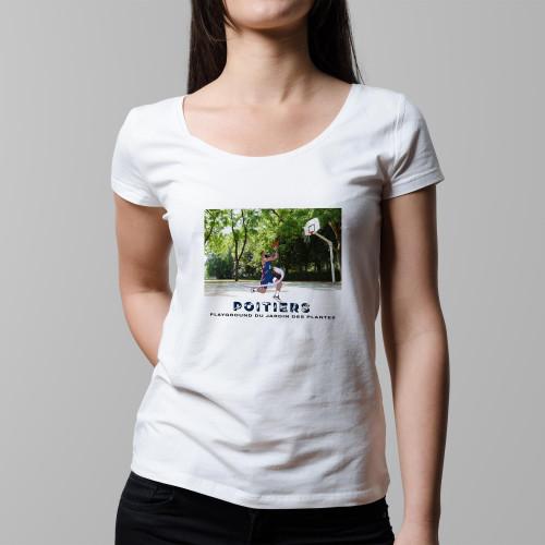 T-shirt femme Poitiers / Jardin des Plantes
