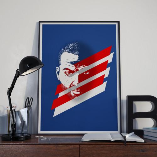 Affiche Tony Parker Bleus