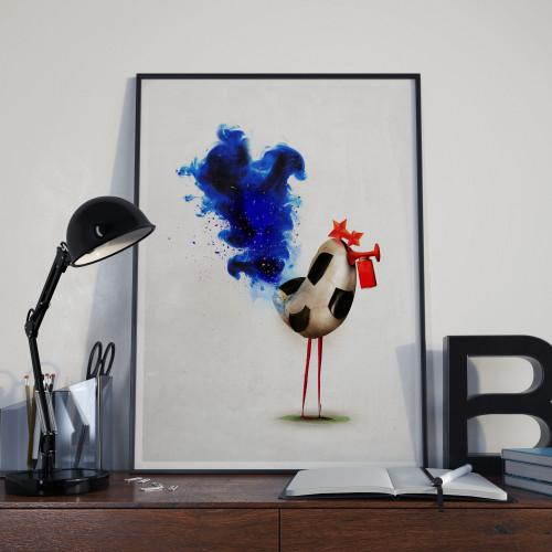 Affiche Coq Soccer