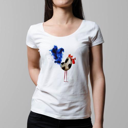 T-shirt femme Coq Soccer