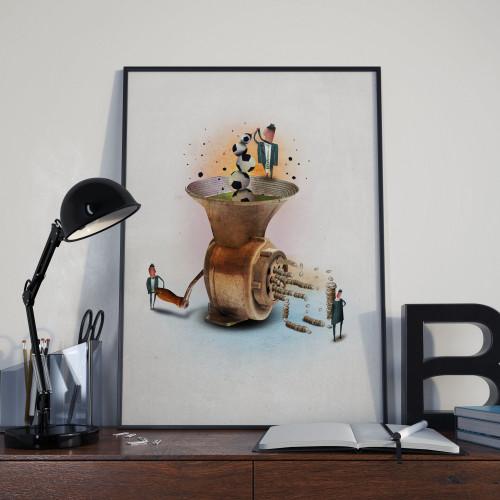 Affiche Machine à pièces
