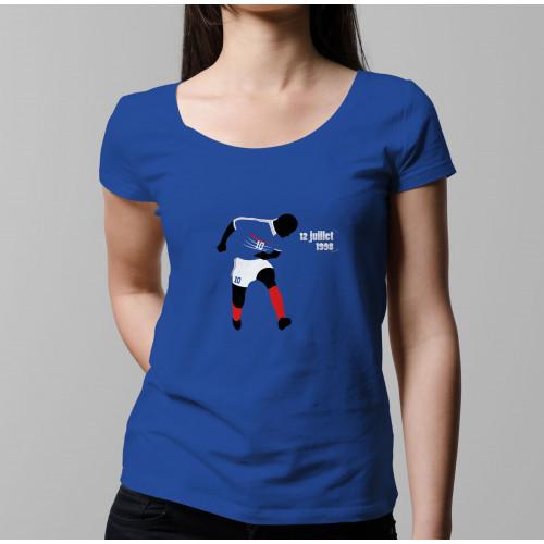T-shirt femme Zidane, Mondial 98