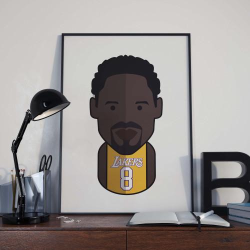 Affiche Kobe Bryant Lakers