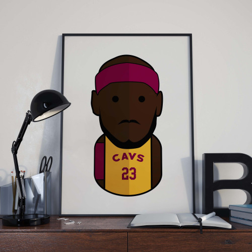 Affiche Lebron James Cavs