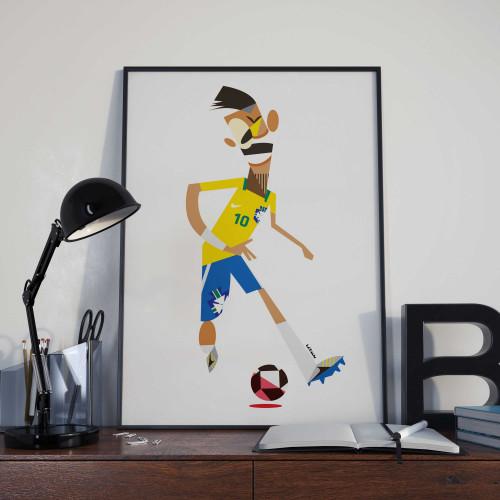 Affiche Neymar Bresil