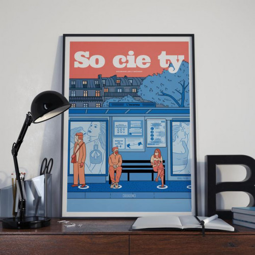 Affiche Society 131, Distanciation sociale