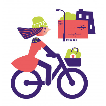 Cycliste urbaine