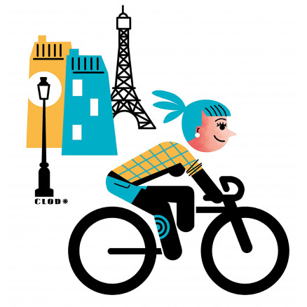 Parisienne à vélo